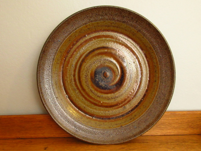 Salt Glaze Studio Pottery Plate Partial Mark Img_0510