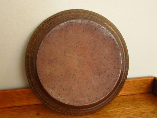 Salt Glaze Studio Pottery Plate Partial Mark Img_0610