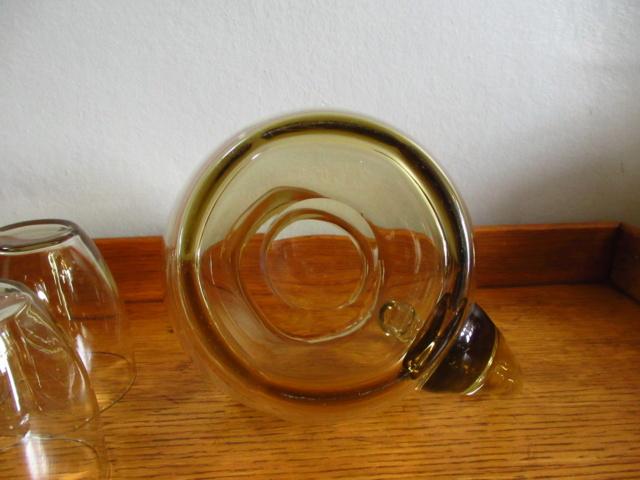 Heavy Retro Lemonade Jug and Glasses Img_2012
