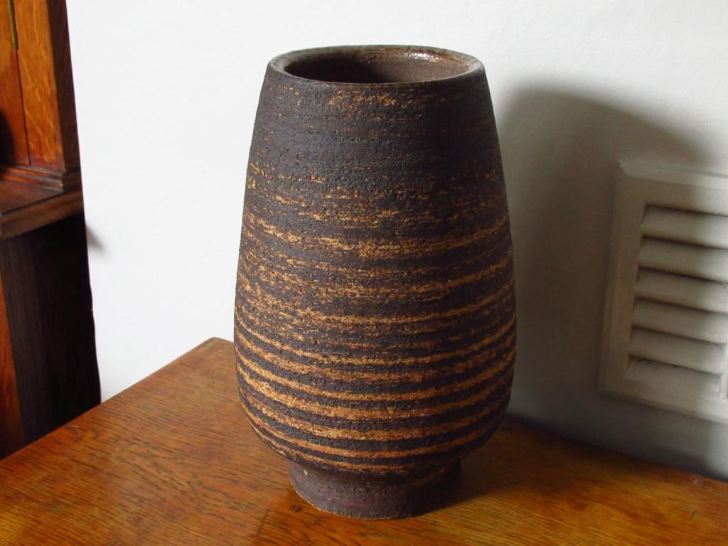Japanese ? Large Stoneware Vase Signed Img_5711