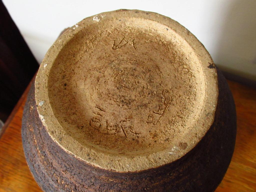 Japanese ? Large Stoneware Vase Signed Img_5811
