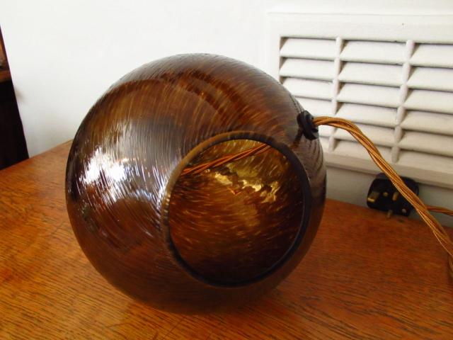 Blown Glass Lamp base, maker unknown Img_7210