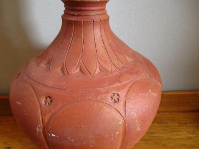 Terracotta water monkey flask bottle Img_8110