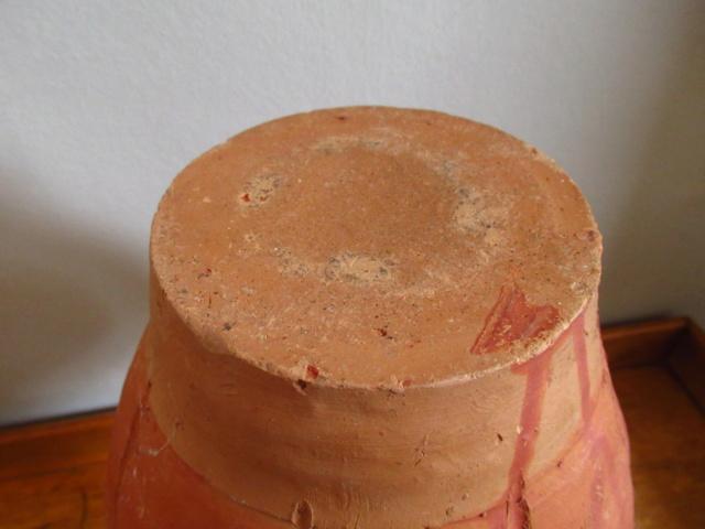 Terracotta water monkey flask bottle Img_8112