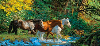 """THE LORD IS MY SHEPHERD"" Horses10"