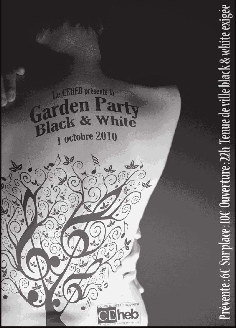 Garden Party: black and white Garden10
