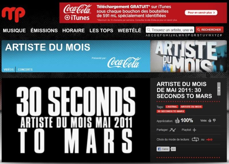30 Seconds To Mars = Artiste du mois sur Musique Plus  Artist10
