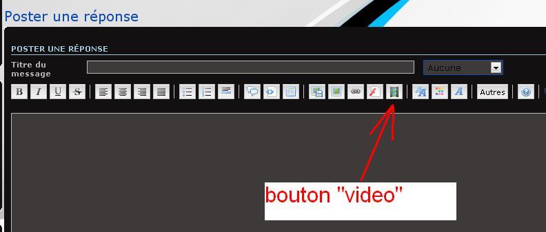 """Comment mettre une vidéo """"viméo"""" sur le forum ? Bouton10"""