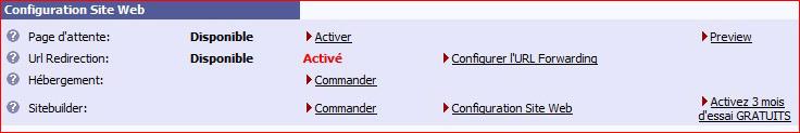 Configuration nom de domaine chez register.be  Regist10