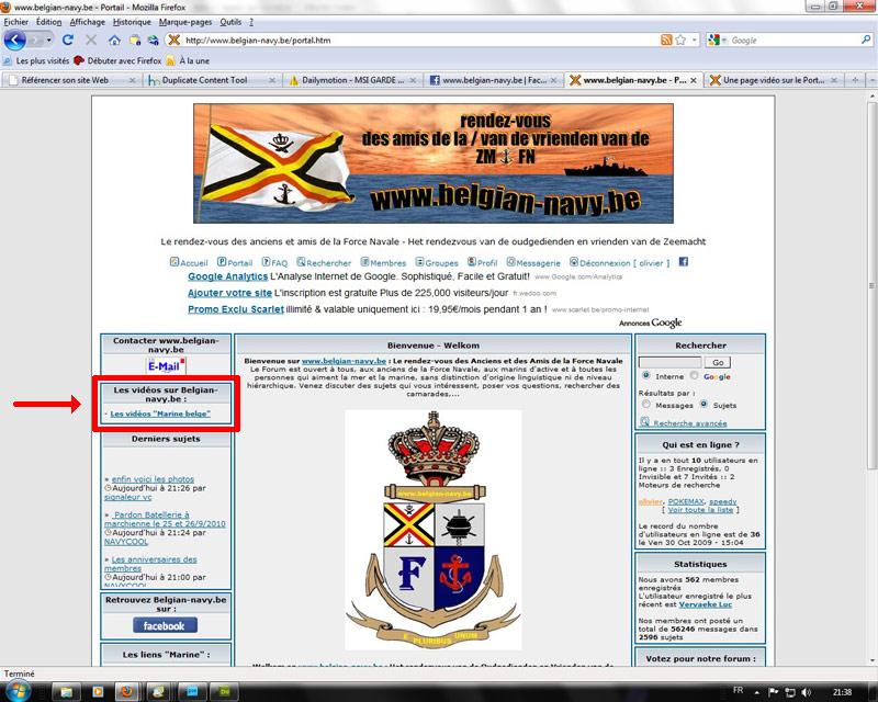 Une page vidéo sur le Portail du forum You_po12