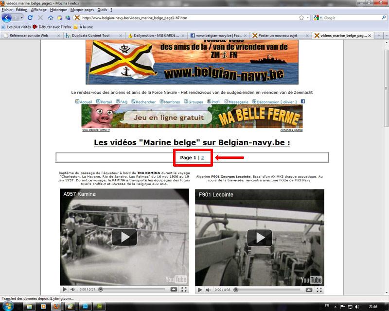 Une page vidéo sur le Portail du forum You_po13