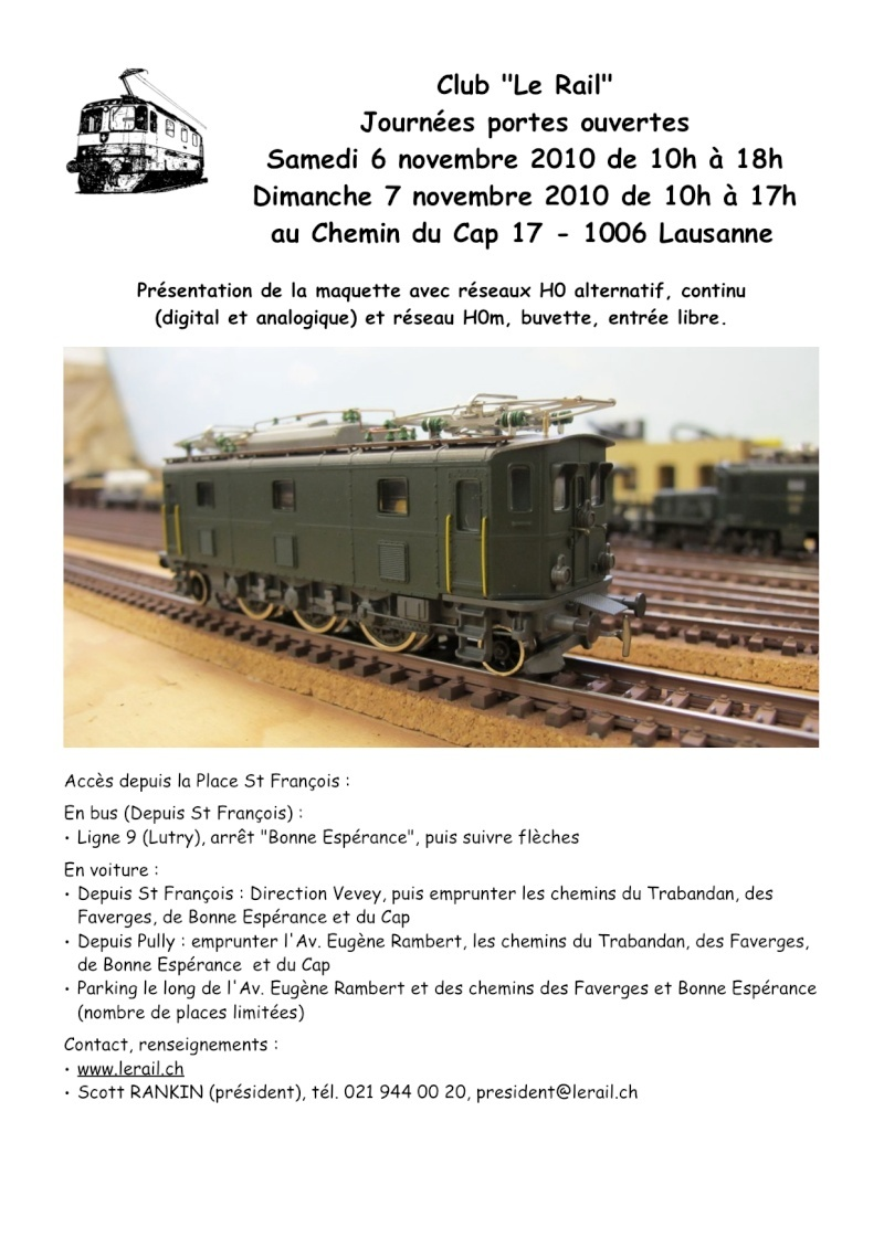 """Portes ouvertes club """"Le Rail"""" Lausanne - Suisse Affich10"""