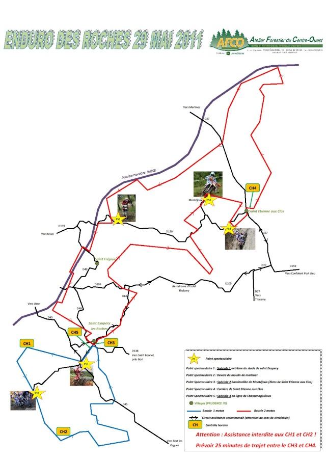 Enduro de Saint Exupèry les Roches 29 Mai  Plan_p10