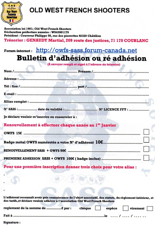 adhésion et ré adhésion 2021 Adhzos11