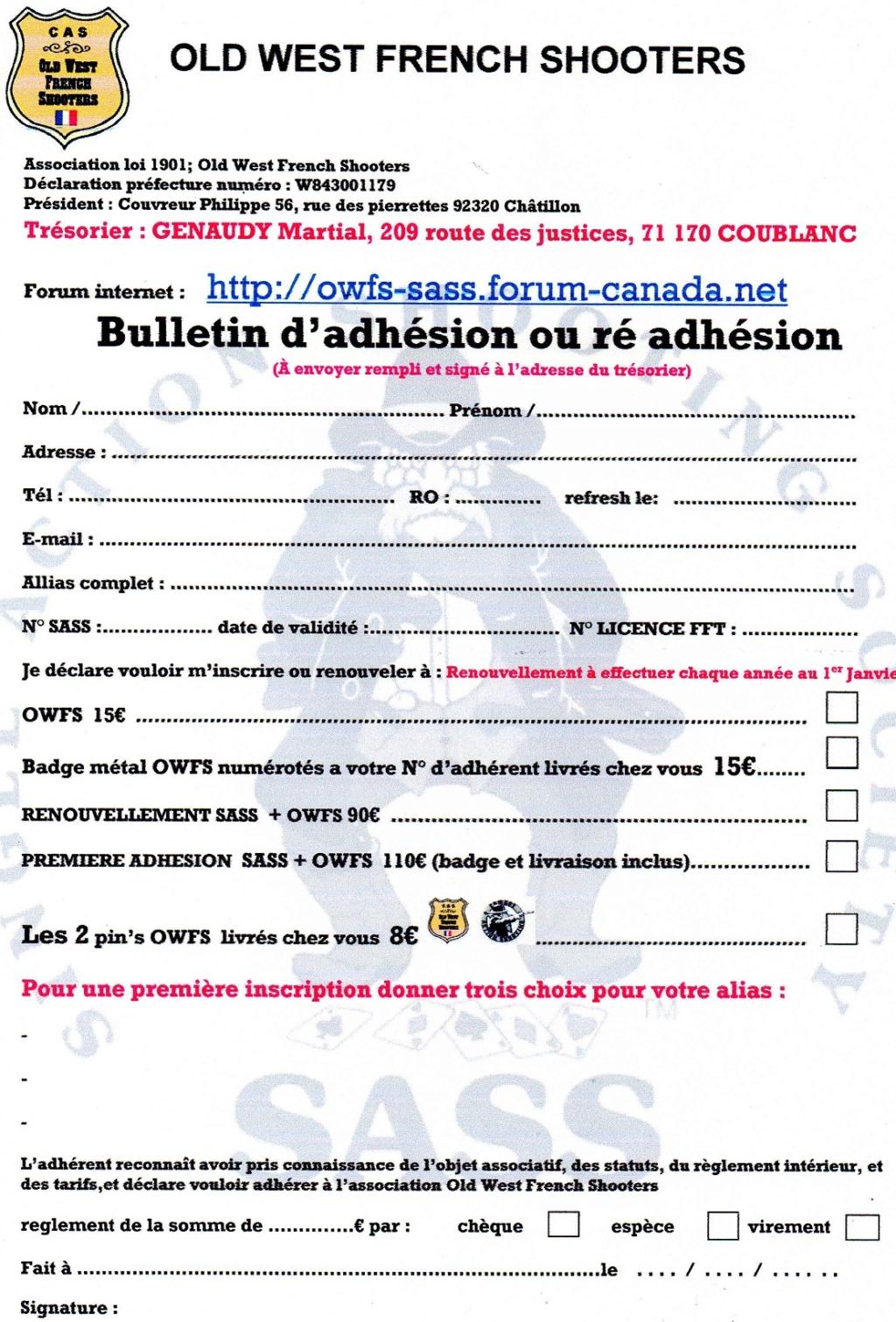 adhésion et ré adhésion 2021 Adhzos13