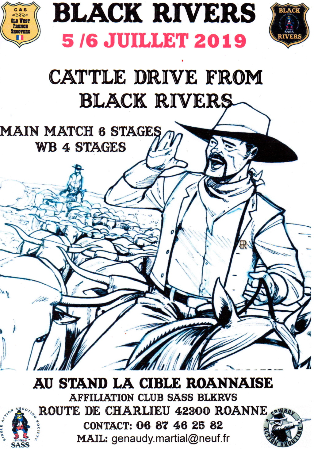 CATTLE DRIVE FROM BLACK RIVERS  05/06 juillet 2019 Affich14