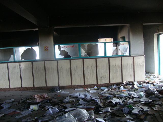 صور التخريب بقسم الشرطة والمرور بالقنطرة شرق 54847411
