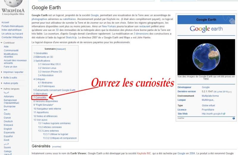 Wikipedia multilingue pour Google Earth. Captu150