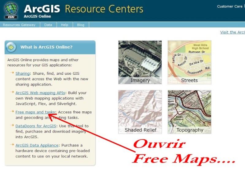 Cartes d'ArcGIS en overlay sur Google Earth Captur98
