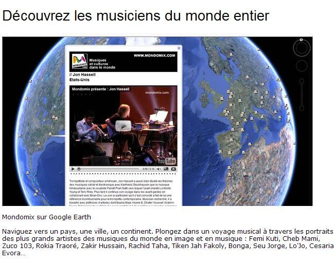 Fichier KMZ de MONDOVIX - Les musiciens du Monde Ge116