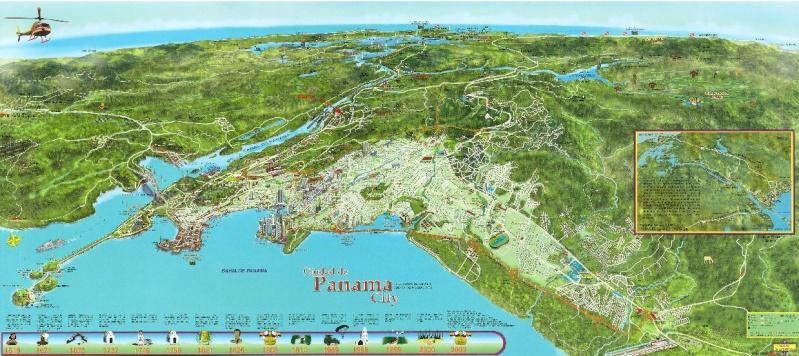 Cartes de randonnées - Cartes et plans touristiques. Panama10