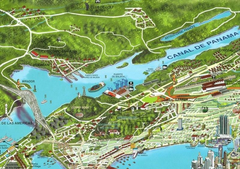 Cartes de randonnées - Cartes et plans touristiques. Panama11
