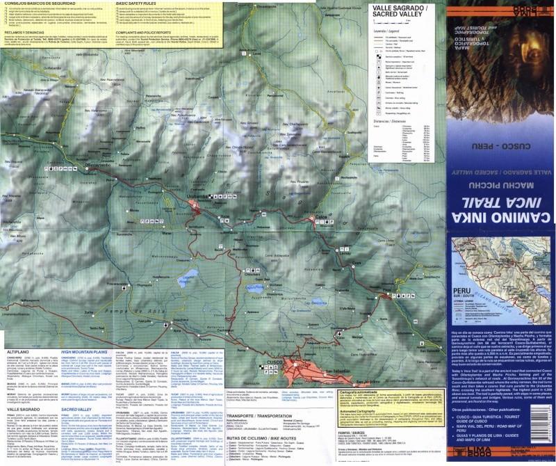 Cartes de randonnées - Cartes et plans touristiques. Sagrad10