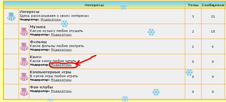 """Надпись """"Модераторы"""" заменить на имена модераторов 11"""