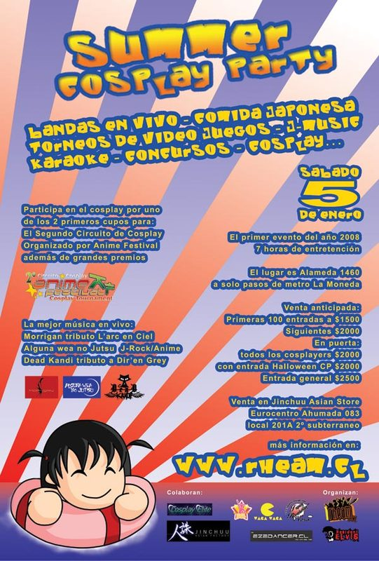 Summer party Cosplay Afiche10