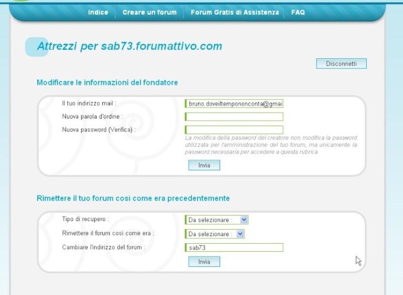 cambiare indirizzo internet al forum Cattur11