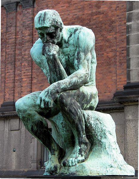 Rodin inspire Sandipoete - Le penseur de Rodin pense Lepens10