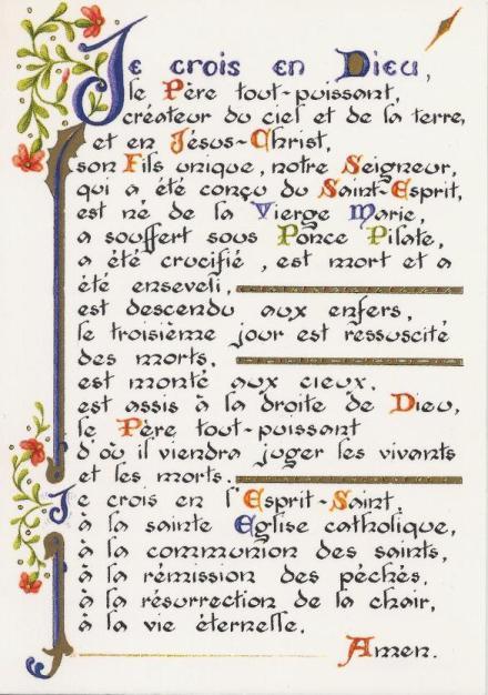 Les sacrements et la transmission de la foi/40/45 Credo511