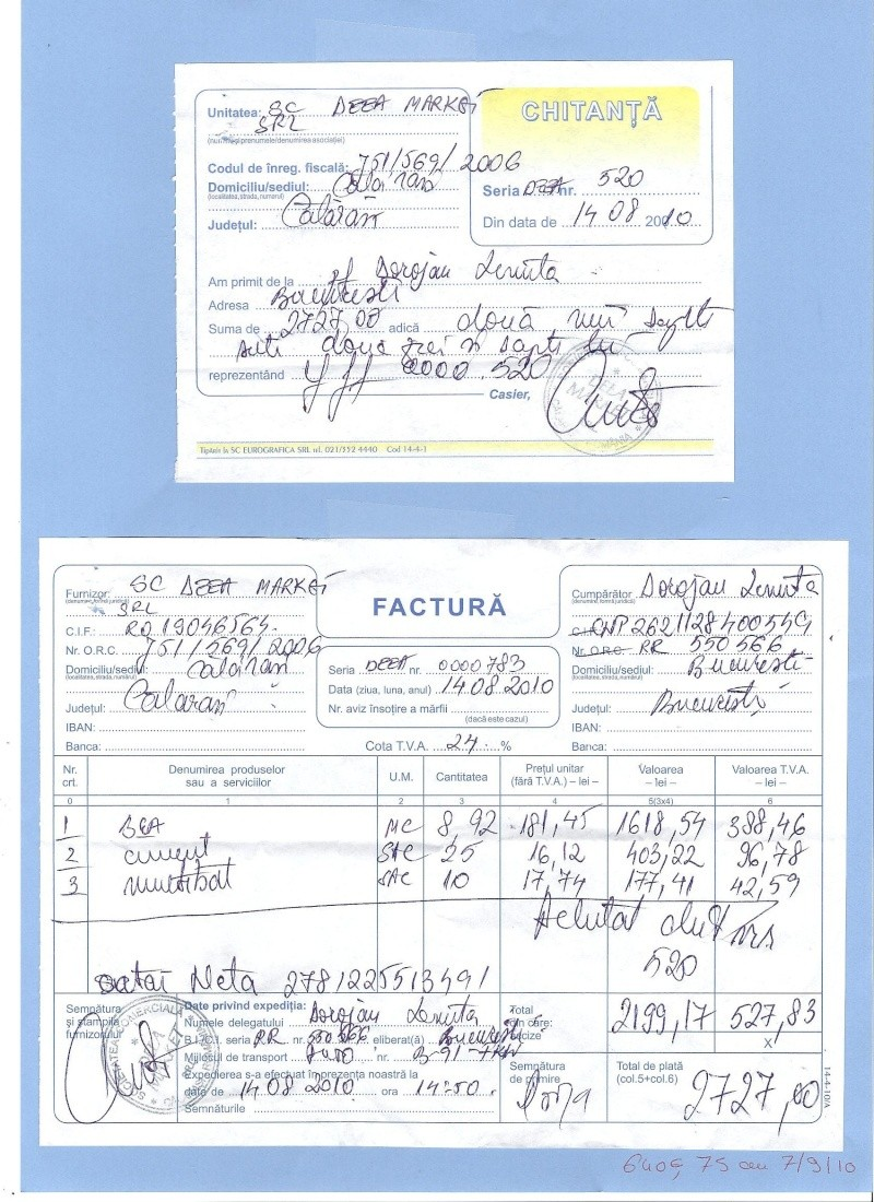 boxe* - FACTURES CONCERNANT LA CONSTRUCTION DE LA PREMIERE TRANCHE DES BOXES POUR LE REFUGE DE LENUTA Factur13