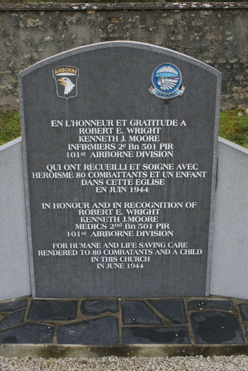 Monument WW2 - Angoville au Plain - Stèle 101nd AB. Jeepy_26