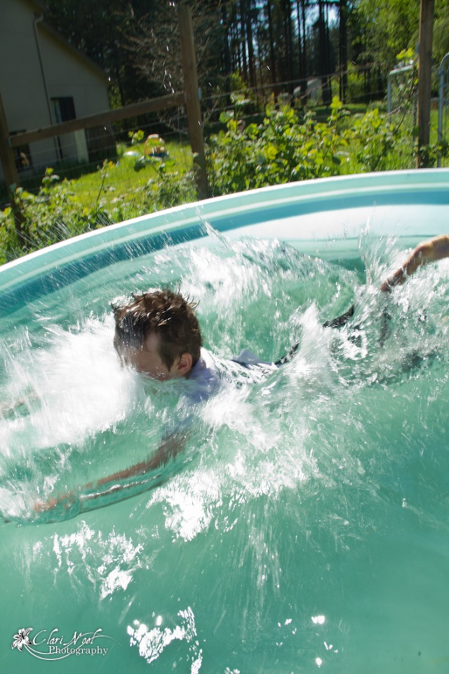 Swimmin' in a horse trough 20110612