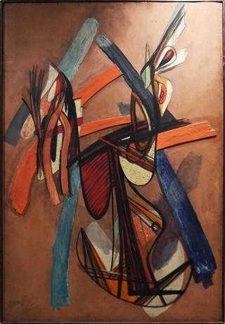 Peinture non-figurative E18-ha10
