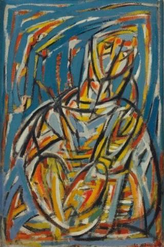 Peinture non-figurative E19-ja10