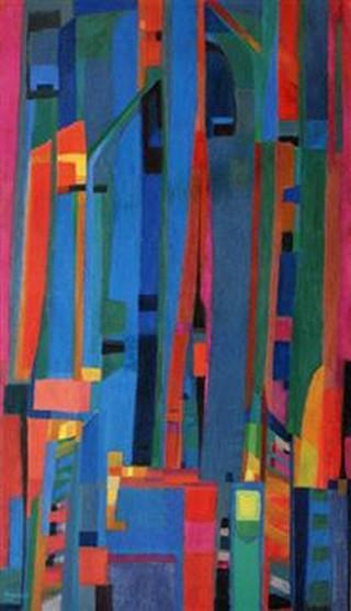 Peinture non-figurative E25-ma10