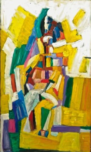 Peinture non-figurative E6-ber10