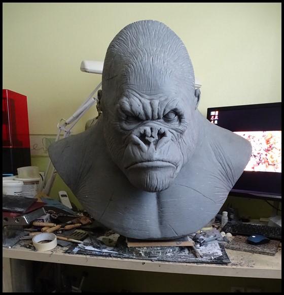 Kong lifesize bust Wip_1211