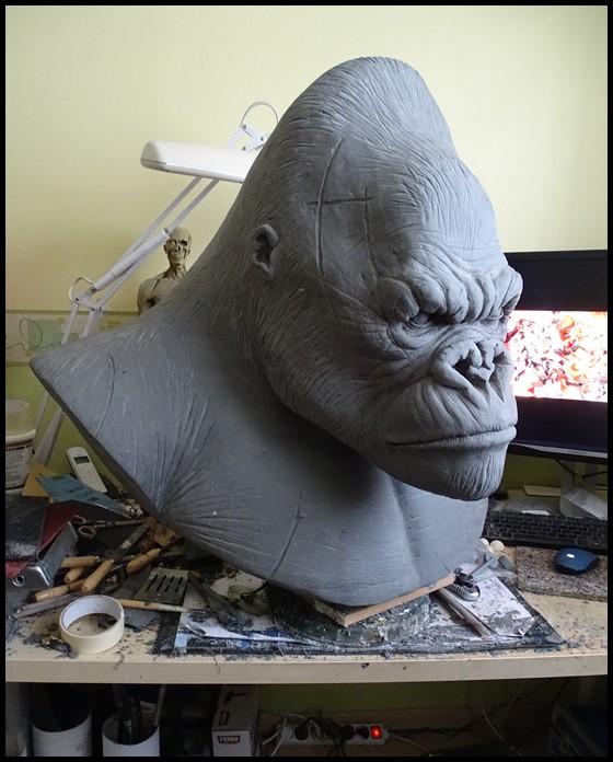 Kong lifesize bust Wip_1312