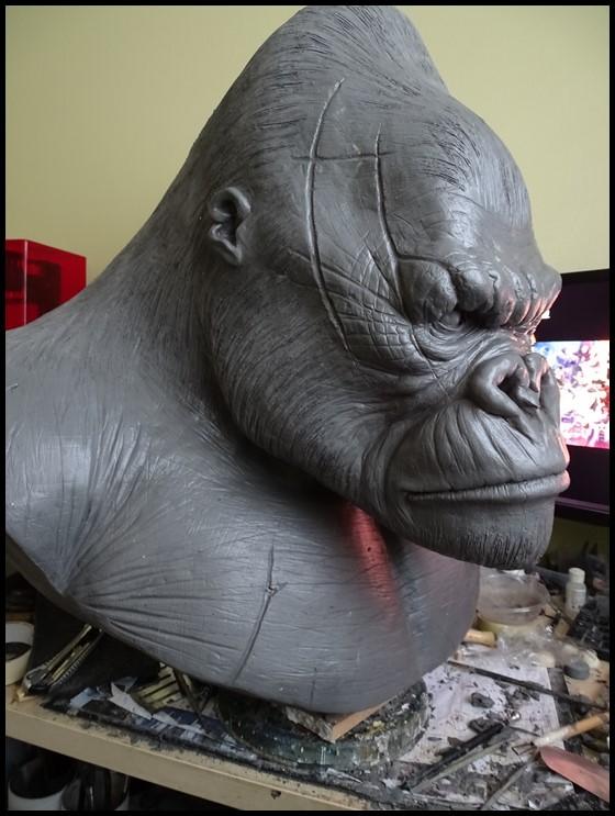 Kong lifesize bust Wip_1814