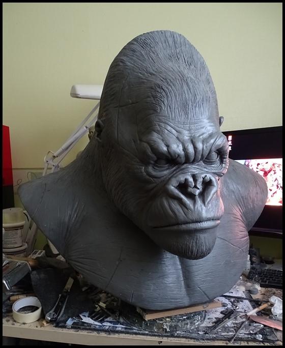 Kong lifesize bust Wip_2211