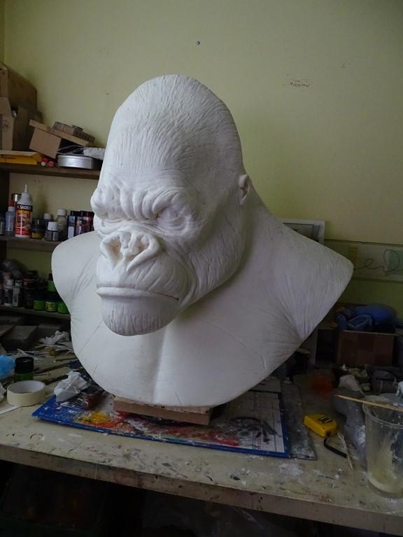 Kong lifesize bust Wip_2710