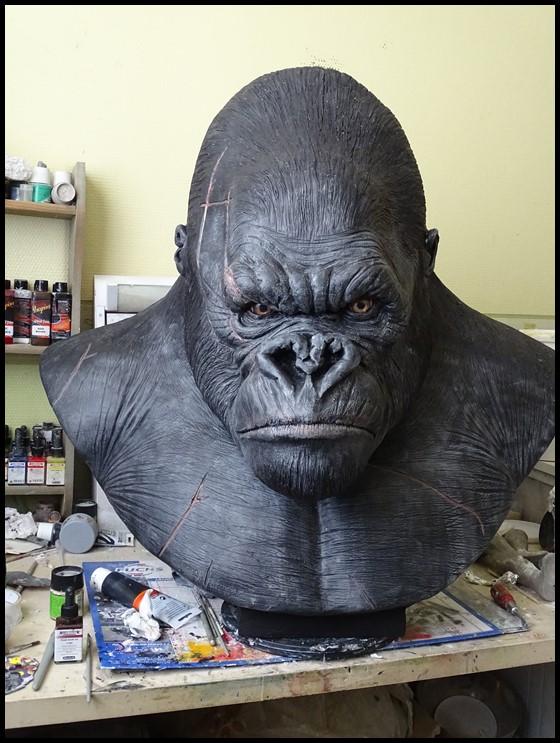 Kong lifesize bust Wip_4210