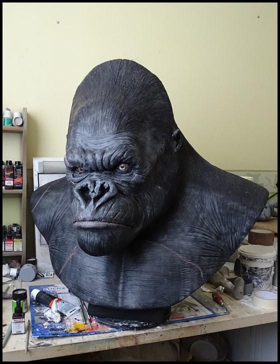 Kong lifesize bust Wip_4610