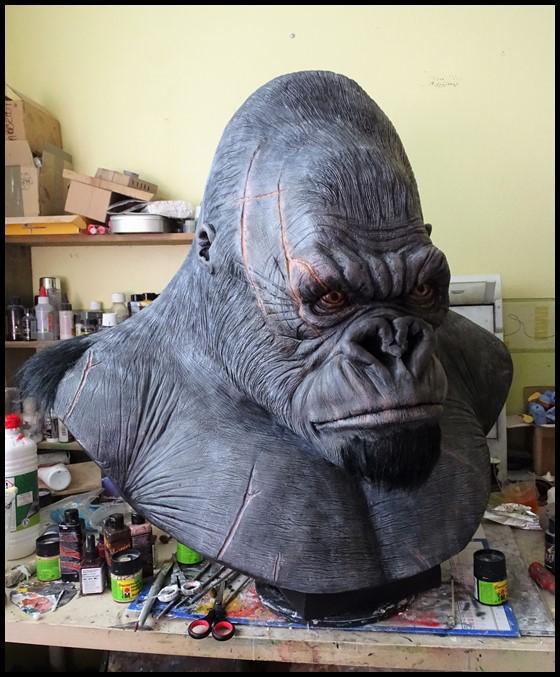 Kong lifesize bust Wip_4910