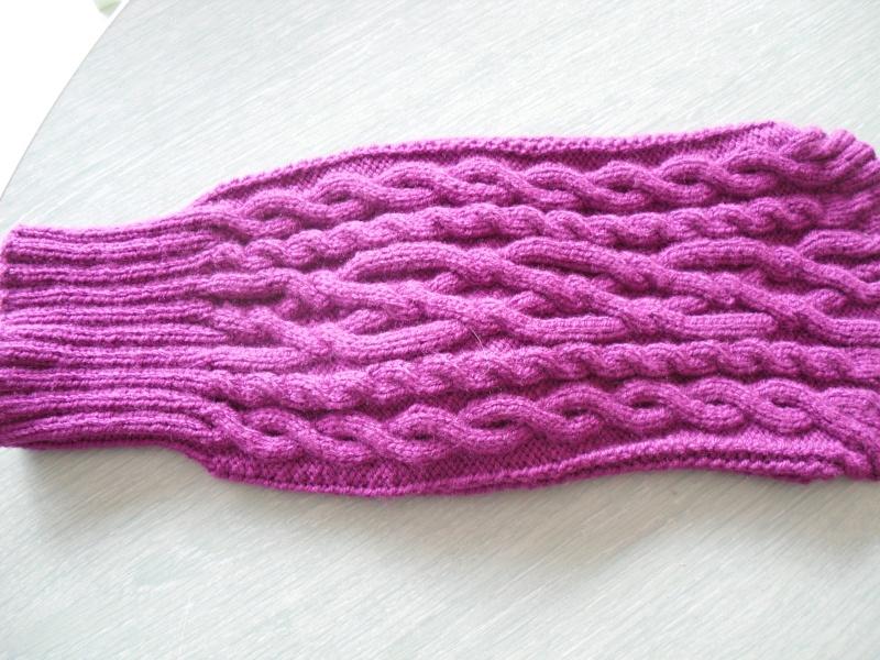 Manteau laine à carreaux où à côtes (tricoté main). Sam_0013