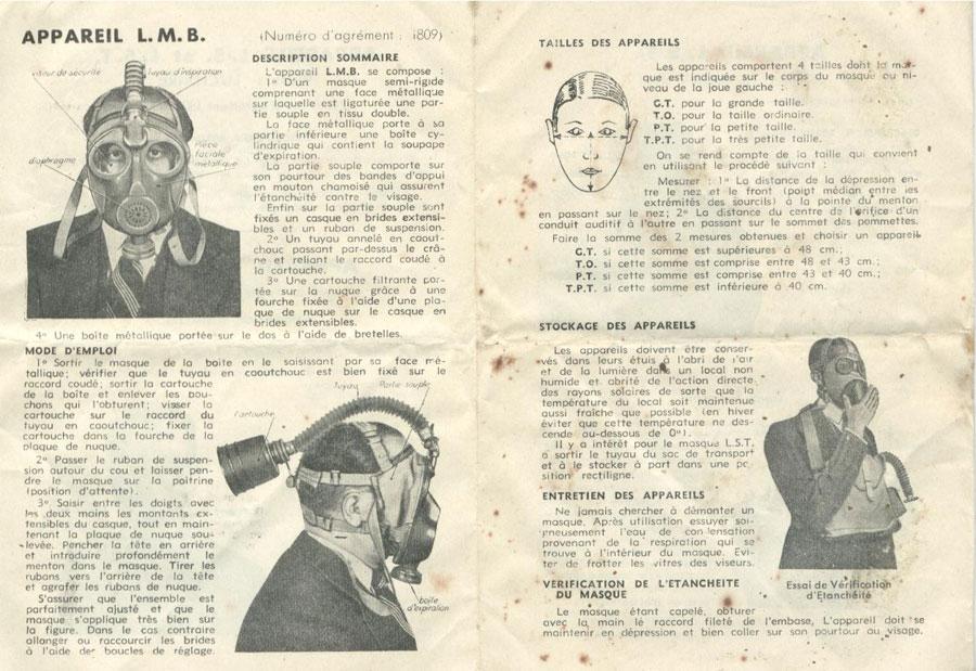 Taille de masque à gaz Infosh10