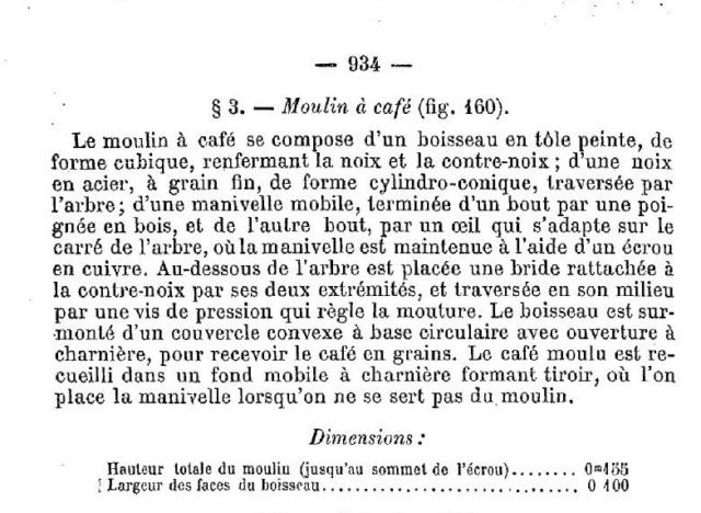Cantine à vivres et caisse de fonds 1885. Moulin16